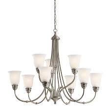 kichler lighting durham 9 light antique pewter chandelier