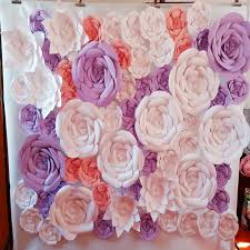 Paper Flower Wedding Backdrops 61pcs Set Giant Paper Flowers Wedding Backdrop Paper Flower