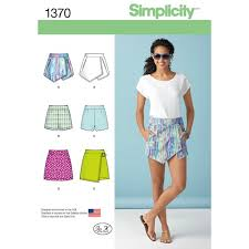 Simplicity Skirt Patterns Cool Simplicity Pattern 48 Misses' Shorts Skort And Skirt