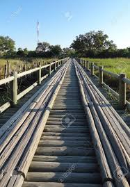 Wooden Bridge Game Wooden Bridge Seen At The Moremi Game Reserve In Botswana Africa 48
