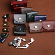 Magnetic Buckle <b>Earphone</b> Case Data <b>Cable Storage</b> Bag Portable ...
