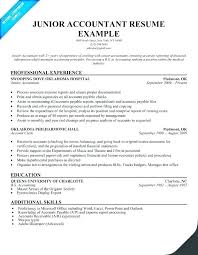 Example Of Accountant Resumes Accounting Resume Samples Airexpresscarrier Com