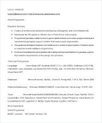 Sample Resume Computer Programmer Computer Programmer Resume Example