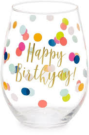 slant collections happy birthyay wine gl