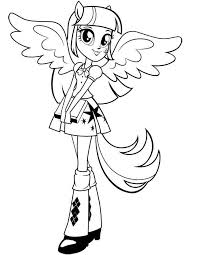 Small Picture Equestria girls twilight sparkle coloring pages ColoringStar