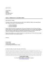 Employment Termination Letters Awesome Employee Dismissal Letter Template Sample Form Biztree