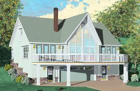 chalet house plans with walkout basement beautiful two story 2 bedroom 2 bath country style house