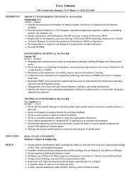 Director Engineering Resumes Technical Engineering Manager Resume Samples Velvet Jobs