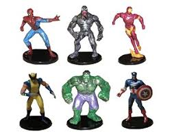 Avengers Spiderman Cake Topper Hulk Captain America Iron Man 6