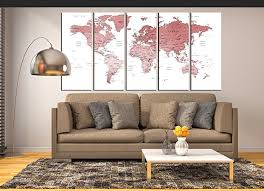 rose gold world map large canvas art framed travel map abstract wall art large wall map on rose gold wall art large with amazon rose gold world map large canvas art framed travel map