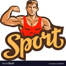 gym logo bodybuilding fitness or sport vector image