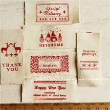 Diy Clothing Label Sale 2 2 5 3 5cm Cotton Fabric Christmas Woven Brand Labels