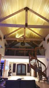 lighting for cathedral ceilings. ultra warm white led strips light up the vaulted ceilings of this custom home lighting for cathedral