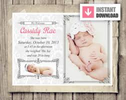 28 Images Of Birth Announcement Template | Adornpixels.com