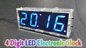 how to assembling 4 digit led electronic clock kit temperature