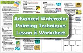 advanced watercolor painting techniques lesson plan student guide