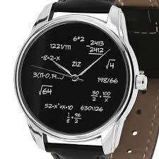 backwards reverse quartz wrist watch math arithmetic personalized teacher gift