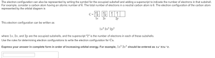Solved Give The Ground State Electron Configuration For S