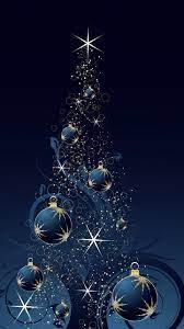Dark Blue Christmas Tree Wallpaper