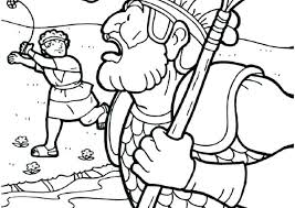 And Coloring Pages Page David Goliath Colouring Babyfundinfo