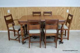 Antique c 1930 s Mahogany Dining Table & Chairs