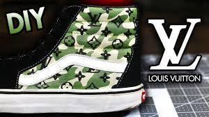 Designer Shoes That Look Like Vans How To Camo Louis Vuitton Your Shoes Super Easy Method Vans Designer Custom