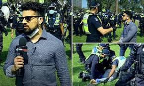 Avi Yemini arrested covering Melbourne anti-lockdown protest | Daily Mail  Online