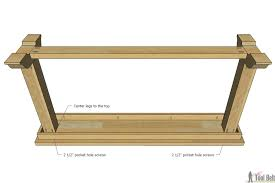 sofa table plans. Attach Legs To The Top Sofa Table Plans