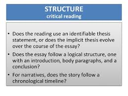 pales basics of critical reading slideshow 6 structure critical reading