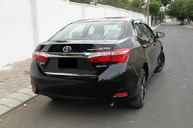 toyota corolla 2015. toyota corolla 2015 altis grande 18l cvti factory fitted pure leather seats sunroof triptronic transmission crystal black color
