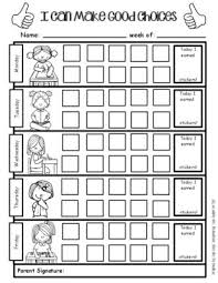 Sticker Charts For Good Behavior Positive Behavior Support Weekly Sticker Chart For Good