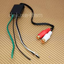 car stereo radio speaker wire to pair rca line level converter Car Speaker Wire Adapter speaker to rca line level converter high low car speaker wire connectors adapters