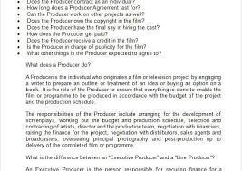Film Producer Agreement Template Production Contract Agreement Ideas ...