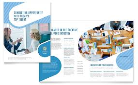 Employment Agency Brochure Template Word Publisher
