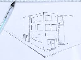 perspective drawings of buildings. If You Are Planning To Make A Vanishing Point Perspective(the Image Goes On Continuous Till The Center) Remember Draw Respective Structures Both Sides Perspective Drawings Of Buildings S