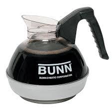 bunn easypour 0101 64 oz regular coffee decanter w black plastic handle 06100 0101