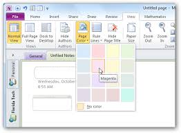Onenote Daily Journal Personalize Your Onenote 2010 Notebooks With Backgrounds And More