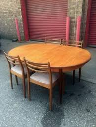 70s stylish original g plan mid century extending oval dining table and 4 chairs united