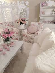 Shabby Chic Living Room Decorating Shabby Chic Style Living Room With White Sofa And Floral Arm