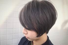 ショートボブにダークグレーカラー おしゃれな髪型髪色ならお任せ