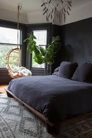 dark bedroom walls and hanging chair bedroom ideas dark