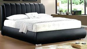 Leather Bed Frame Queen Leather Bed Frame Grace Black Faux Leather ...