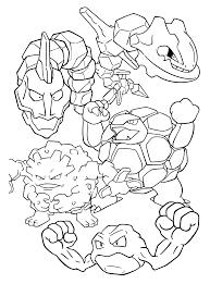 Pokemon Paradijs Kleurplaat Onix Steelix Golem Graveler Geodude