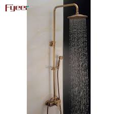 Fyeer Solid Brass Antique Shower Faucet With 8 Inch Shower Head View Shower Faucet Fyeer Product Details From Wenzhou Fyeer Sanitary Ware Co Ltd