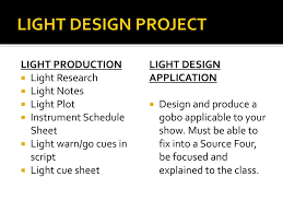 Light Cues In Script Technical Theatre Light Design Ppt Download