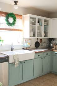 charming can you paint kitchen countertops and over stained wood enamel chalk painted cabinets collection images