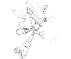 Sonic Coloring Pages Shadow Shadow Sonic Coloring Pages Page