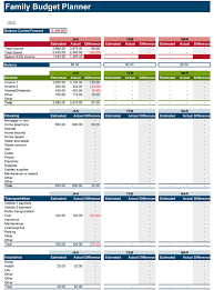 Free Budget Download Family Budget Planner Free Budget Spreadsheet For Excel