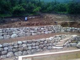 Rock Wall installations traditional-landscape