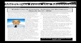 Messages from the Mountain, March 2010 - [PDF Document]